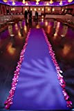 Satin Aisle Runner 50Ft 5 Ft wide - wedding, red carpet events - seamless (Purple)