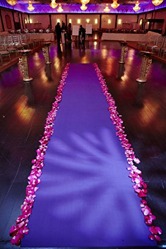 Satin Aisle Runner 50Ft 5 Ft wide - wedding, red carpet events - seamless -