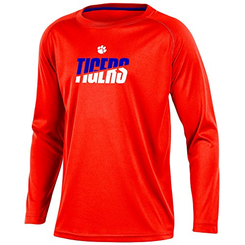 NCAA Clemson Tigers Youth Boys Long Sleeve Crew Neck T-shirt, Medium