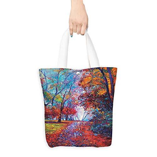 (Tote Shopping Handbags Colorful Fairy Pa Park Fall Arts View The Earth Good permeability W16.5 x H14 x D7)