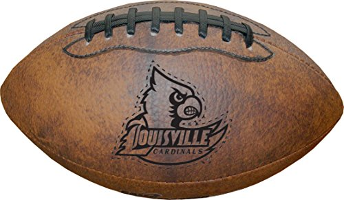 NCAA Louisville Cardinals Vintage Throwback Football, 9-Inches