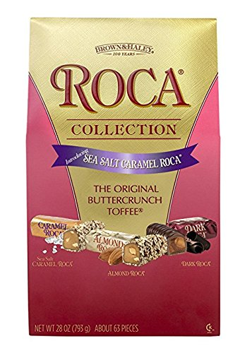 Brown and Haley Roca Collection, Sea Salt Caramel, Original Buttercrunch Toffee, 28 Ounce, Pack of -