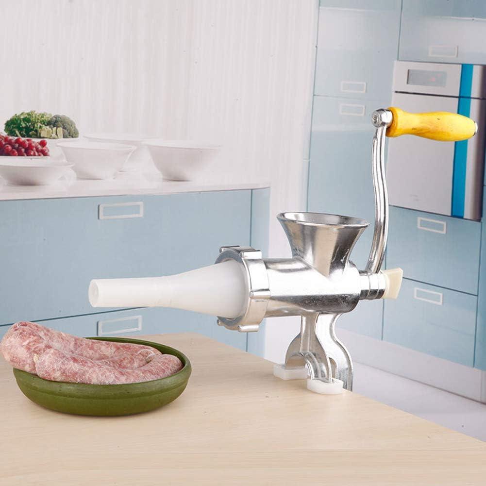 Picadora de carne de mesa Picadora de carne Embutidora Manual de mano Máquina de llenado de sausa Máquina y cuchilla