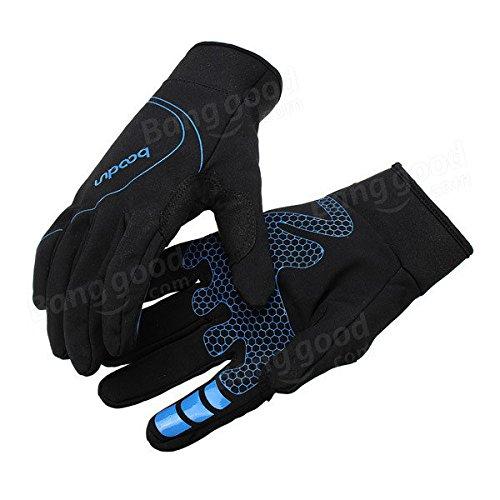 PhilMat Al aire libre a prueba de viento unisex escalada guante montando mantener caliente impermeable guante de dedo completo