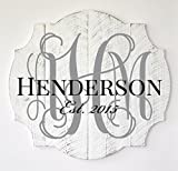 MRC Wood Products Personalized Family Name Sign with Scalloped Edge