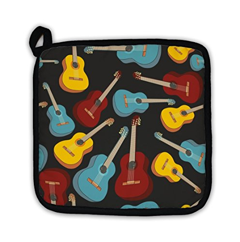 Gear New Pot Holder, Pattern Isolated Guitars, GN154 by Gear New