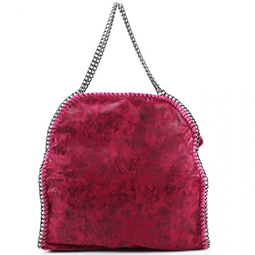 COLOURS Plum DETAIL WOMEN CHAIN TOTE ALL SHOULDER LADIES LARGE BAGS Red BAGS zvwd5