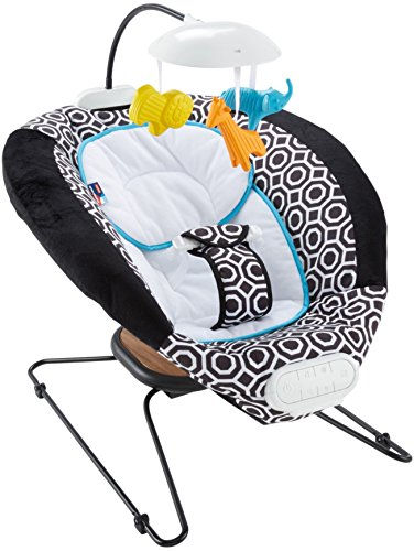 Fisher-Price Jonathan Adler Deluxe Bouncer, Black/White