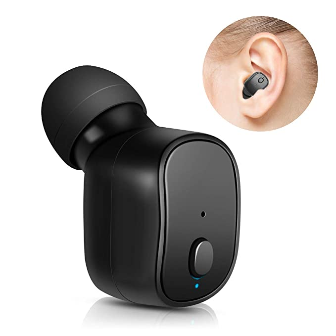 TOCGAMT Auriculares Bluetooth, Auricular Invisible Bluetooth Mini Auricular Inalámbrico In Ear con Microfono y Cancelación