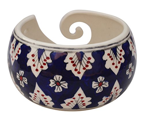 Black Friday Deals Cyber Monday Deals - Ceramic Yarn Bowl for Knitting, Crochet for Moms - Beautiful Gift on All Occasions. A Perfect Gift for Moms and Grandmothers (Big Yarn_22) by abhandicrafts (Image #4)