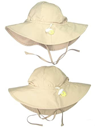 87b3647cf i play.. 2 Pack UPF 50+ Sun Protection Wide Brim Baby and Toddler Sun Hats  Khaki