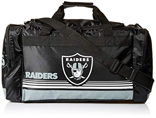 Oakland Raiders Medium Striped Core Duffle Bag for sale  Delivered anywhere in USA