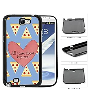 All I Care About Is Pizza Pink Heart And Pizza Pattern Samsung Galaxy Note II 2 N7100 Hard Snap on Plastic Cell Phone Cover hjbrhga1544