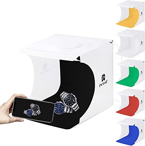 PULUZ Portátil mini estudio fotográfico 20cm DIY Fotografía de sobremesa Iluminación Caja de luz Soft Kit