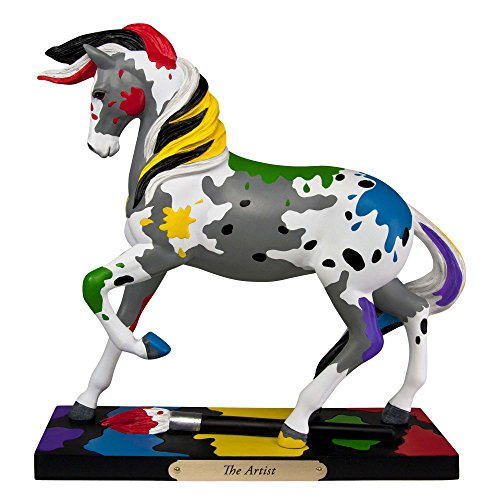 - Trail of Painted Ponies The Artist Paint Splattered Horse Figurine 4049719