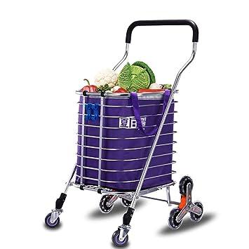 Shopping Trolleys Carro De La Compra De Aluminio: Andador Portátil De 8 Ruedas con Marco