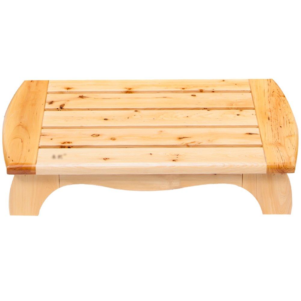1ステップフットスツールノンスリップスツール木製ベンチフロアーバスルームバスシューズベンチ B07D8NQQ7T