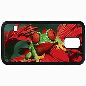 Fashion Unique Design Protective Cellphone Back Cover Case For Samsung GalaxyS5 Case Frog Black