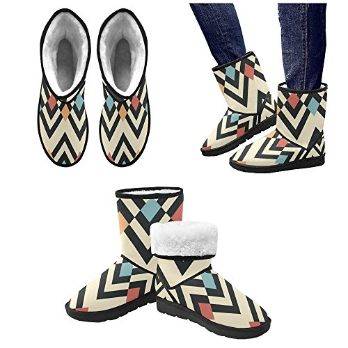 Pattern Size Classic On Snow Snow 5 Print Colorfuler Boots Color10 5 12 Womens InterestPrint Flowers Boots qaFxPYFd