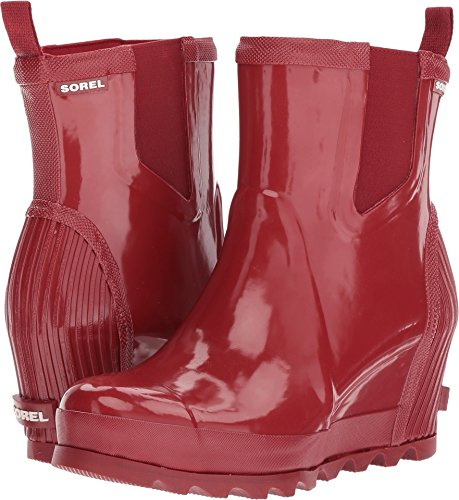 Dahlia Rain Rain Candy Apple Joan Booties Gloss Women's Wedge SOREL Chelsea Red xOz67nZ