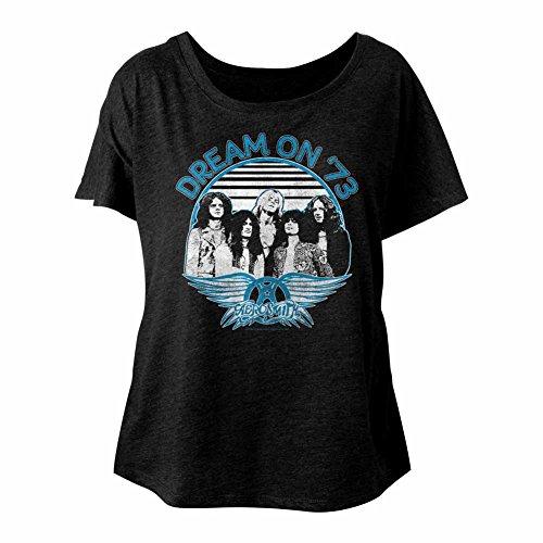 Slouchy Dolman American Rock Pour Américain Shirt Aerosmith Tournée Groupe Femme 1973 Tees Classics De Rêve En Dames qqwpzUvxT