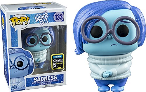 FunKo POP! Disney/Pixar: Inside Out - Sadness Toy Figure 2015 Summer Exclusive (Sparkly Hair)