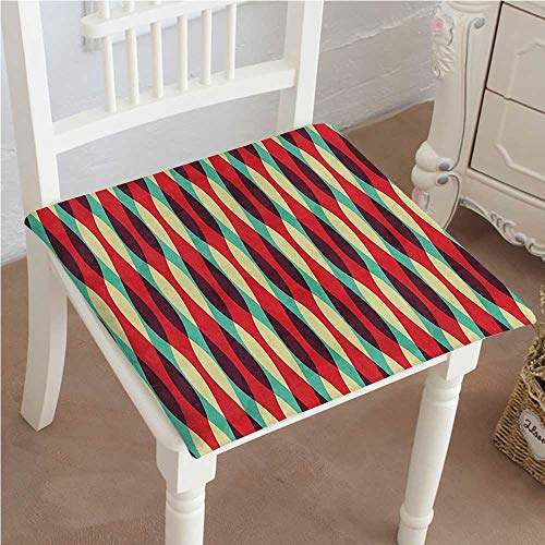 Dining Chair Pad Cushion Mix of Contemporary Art with Retro Inspired Design Wave Like Lines Print Multicolor Fashions Indoor/Outdoor Bistro Chair Cushion ()