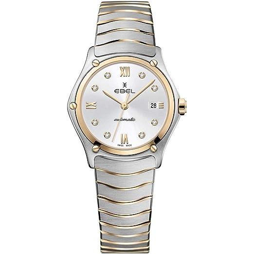 Ebel Sport Classic Reloj de Mujer Diamante Cuarzo Suizo 29mm 1216429A: Amazon.es: Relojes