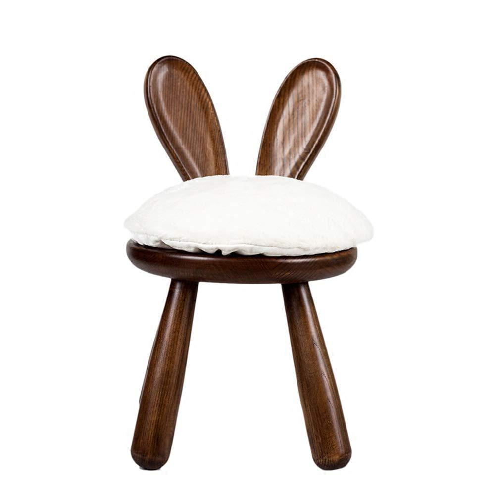 Bycws子供用スツール、ウサギの椅子動物用スツール怠惰な滑り止め滑り止め滑稽ホームパーソナリティクリエイティブ化粧台椅子(ブラウン) B07PM52QTD