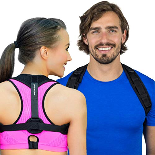 (Back Posture Corrector for Women & Men by Flexible Bear - The Slouch Corrector Brace is Discreet Under Clothes, Comfortable, Easy to Use & Support Spine Alignment to Fix Rounded Shoulders & Hunchback)