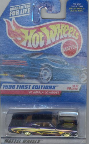 (Hot Wheels 1998 FIRST EDITION 635 purple '65 IMPALA LOWRIDER 8 of 40 1:64)