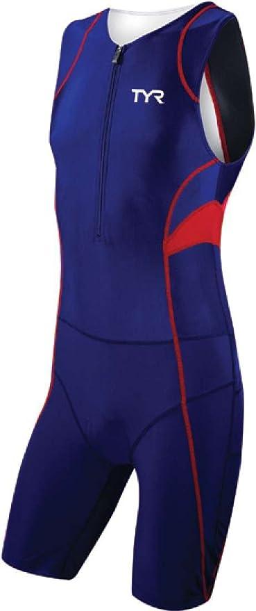 10893ec5e3 TYR Competitor Front Zipper Triathlon Suit - Men's Size XL Color Navy/Red