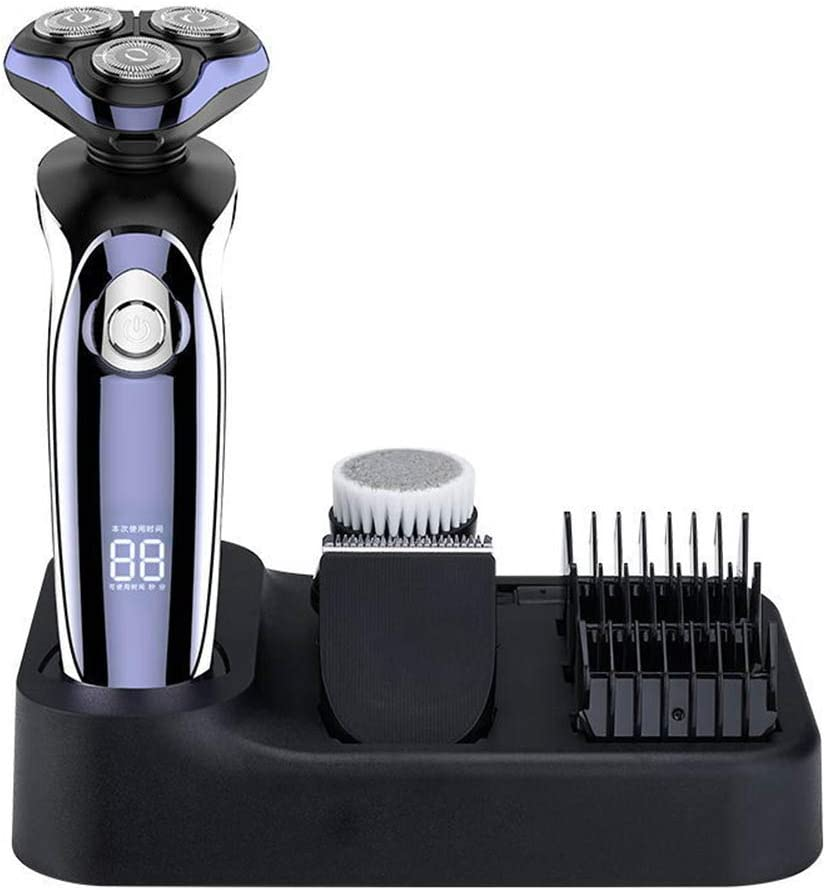 MAICOLA 3D Hombres Recargable afeitadora eléctrica 4D Wireless ...