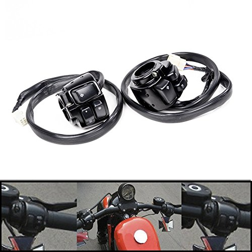 DLLL Motorcycle Horn Turn Signal headlamp Light On-Off Control Black Housing Switch 1