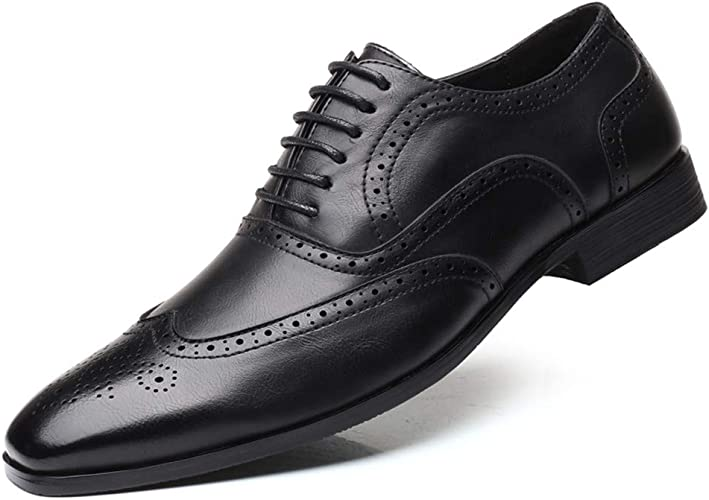 Men/'s Smart Oxford Leather Pointed Toe Business Formal Office Work Wedding Shoes