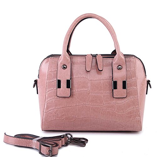 à en pink à Sac main diagonale véritable à en Femme Sac Sac bandoulière en cuir Sac main cuir FIHTqnwHZx