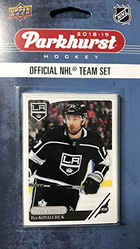 (Los Angeles Kings 2018 2019 Upper Deck PARKHURST Series Factory Sealed Team Set including Drew Doughty, Anze Kopitar and Jonathan Quick Plus 7 Others)