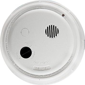 Gentex 9120F, P E Smoke Detector, 120VAC w Piezo Sounder, Form A C Contacts, 9V Backup