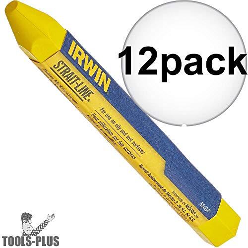 Irwin Strait Line 66406 Yellow Lumber Crayon 12-Pack