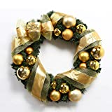 Christmas Garland for Stairs fireplaces Christmas Garland Decoration Xmas Festive Wreath Garland with Christmas wreath hanging rattan ring,60cm