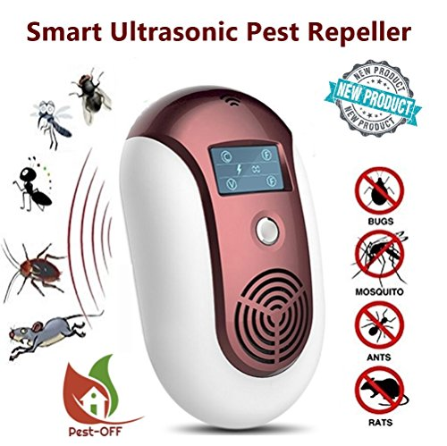 - Pest-OFF NEW 2018 Electronic Ultrasonic Pest Repeller Plug in Outdoor Indoor Non-toxic. Say good bye to Rodents, Mosquitoes, Rats, Roaches, Ants, Spiders and More! No Chemicals Safe use
