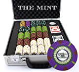 Claysmith Gaming 500-Count 'The Mint' Poker Chip Set in Claysmith Aluminum Case, 13.5gm