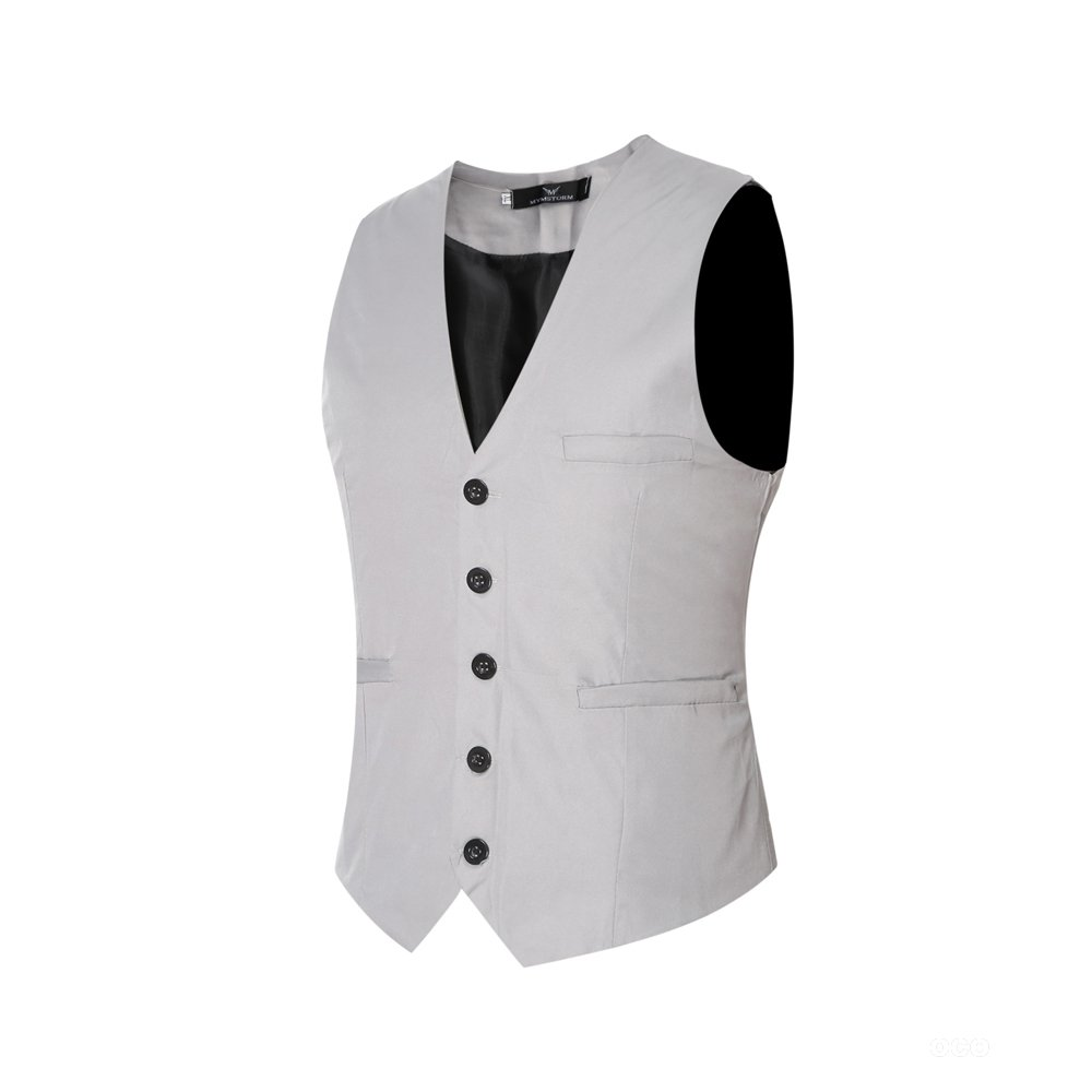 Gilet Costume Homme Sans Manche Slim Fit Multicolore Veste Business Mariage  Elégant EHMJ01 Agrandir l image 18af3fa1df3
