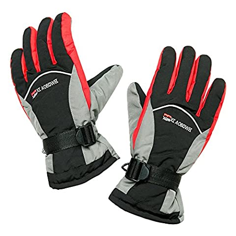 IVEKEN Ski gloves Waterproof Windproof Men's Winter Thinsulate Thermal Warm Snow Snowboarding Snowmobile Work Gloves (Red, - Youth Hockey Goalie Catcher