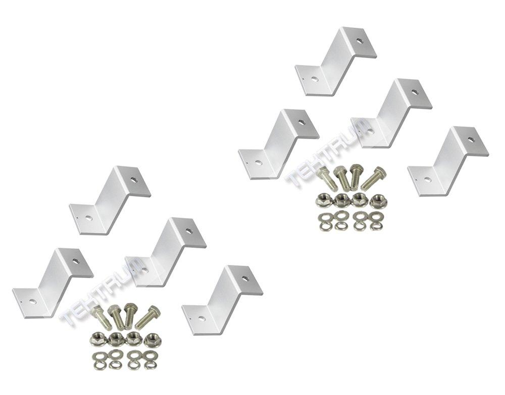 "(Lot of 2) TEKTRUM 2.125"" TALL Z BRACKET SOLAR FLUSH MOUNT KIT SUPPORTING LARGE & SMALL SOLAR PANELS- SET OF 4 Tektrum Development Corp. TD-ZJ-09-2X"