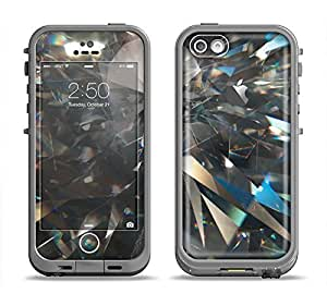 The Abstract Shattered Crystal Pattern Apple iPhone 5c LifeProof Fre Case Skin Set (Skin Only)