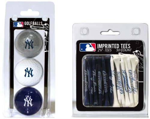 Ball New Yankees York (MLB New York Yankees 3 Golf Balls And 50 Golf Tees)