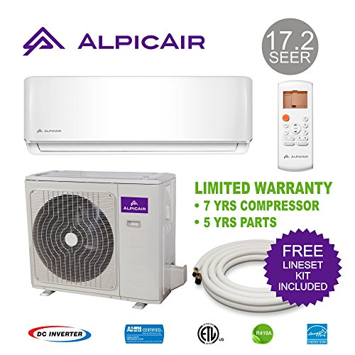 Low Ambient Heating (AlpicAir 12,000 BTU Ductless Mini Split Air Conditioner System 17.2 SEER Inverter Heat Pump)