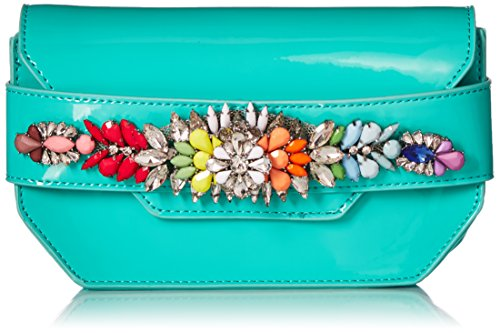 Steve Jewels Colored Madden Rhinestones Turquoise and Patent Pauline Crossbody Multi Clutch qOxFpBPq