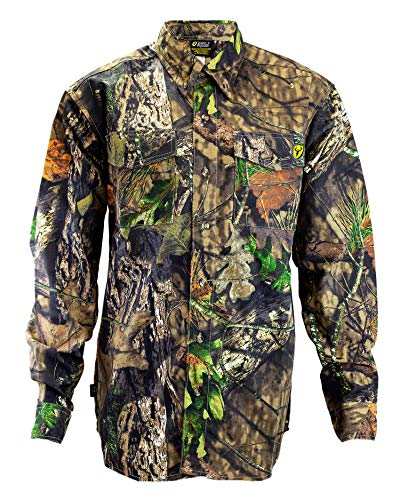 Scent Blocker 7 Button Cotton Shirt, Odor Control, Chest Pockets - XL - Mossy Oak Country